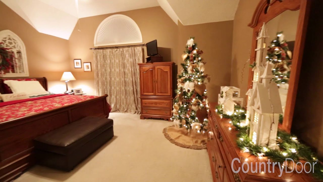 2015 Country Door Holiday Decor Sweepstakes Winner Makeover Youtube