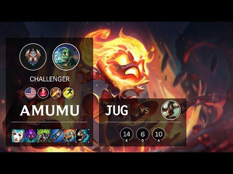 Amumu Jungle vs Nidalee - NA Challenger Patch 10.19