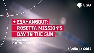 ESAHangout: Rosetta mission