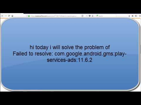 Failed To Resolve: Com.google.android.gms:play-services-ads:11.6.2