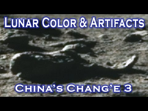Amazing New Color Moon Image & Artifacts - China's Chang'e 3