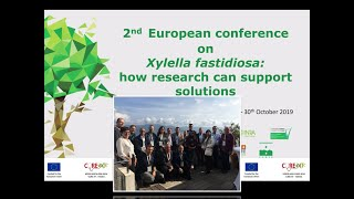 Xylella fastidiosa :CURE XF project in the 2nd conference on XF in Corsica october 2019