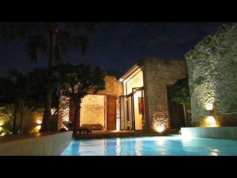 Casablanca Living 3 Bedroom Luxury Property Rental, Merida, Yucatan, Mexico   Night Time Video