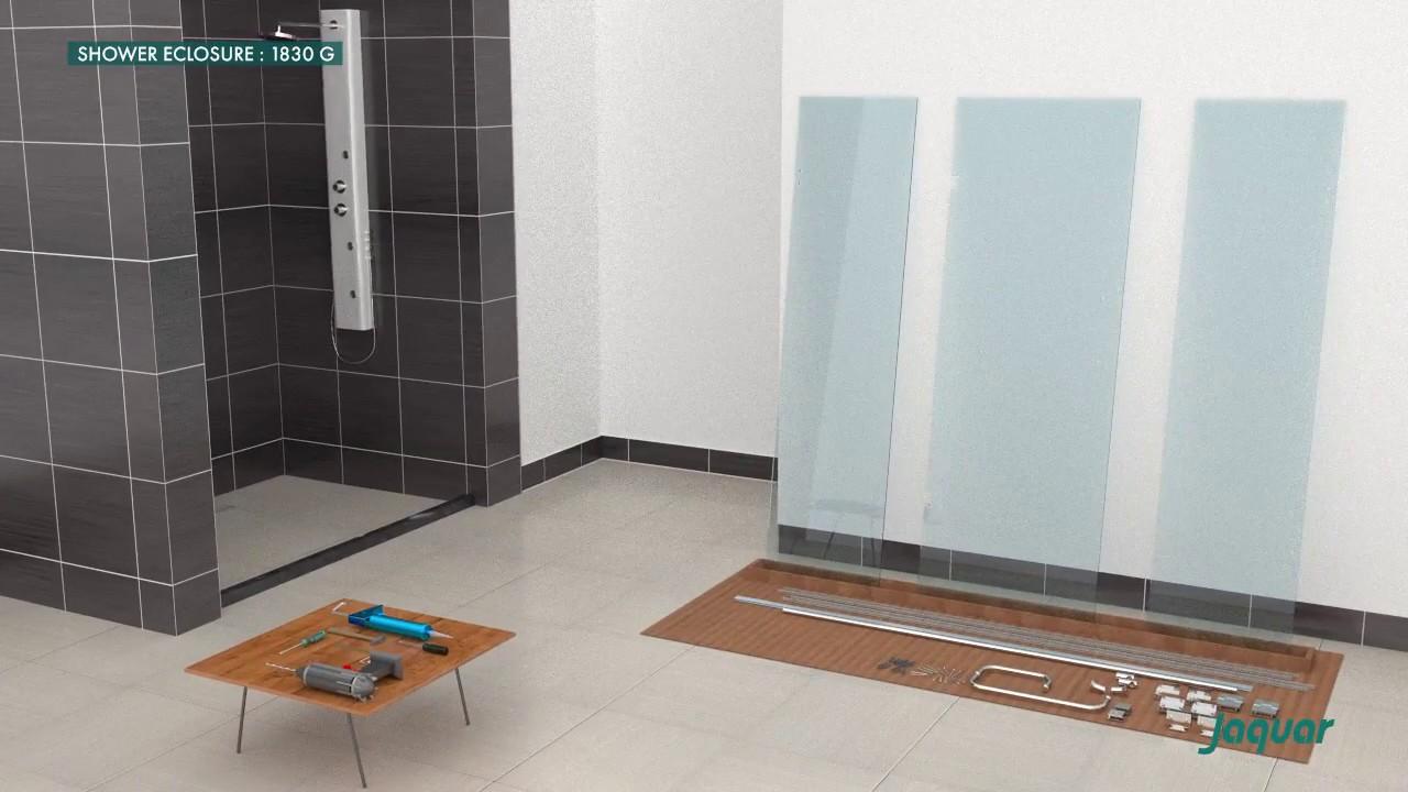 Jaquar Shower Enclosure 1830 G installation - YouTube