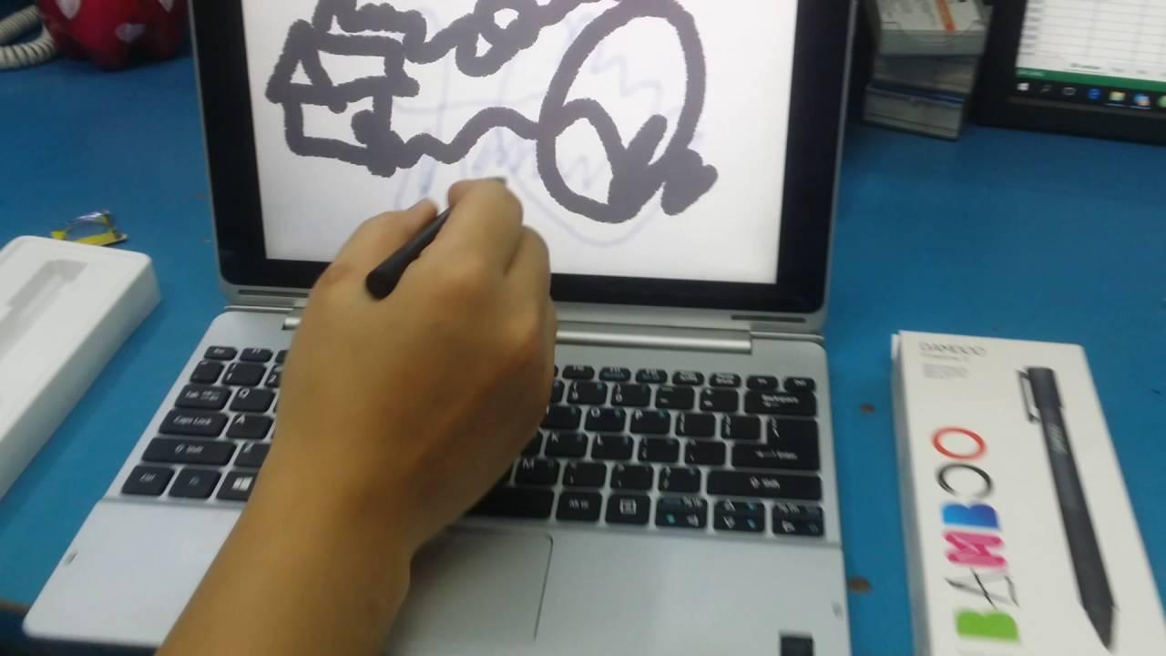 Test bút cảm ứng wacom bamboo fine 2 dùng trên laptop , máy tính bảng chạy window