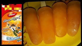 Instant Energy Glucose Popsicles | Summer Special Orange Glucose Popsicles | Easy popsicles recipe |