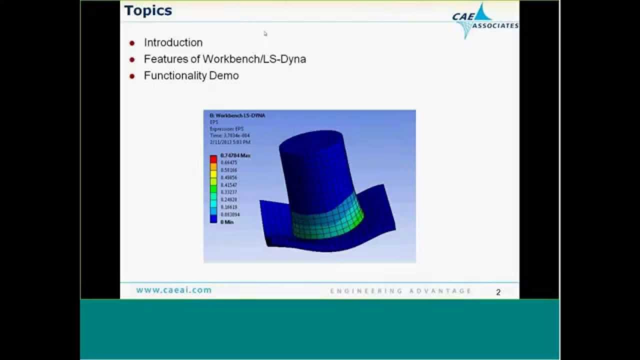 Transient Dynamics with Workbench LS-Dyna   ANSYS e-Learning   CAE  Associates