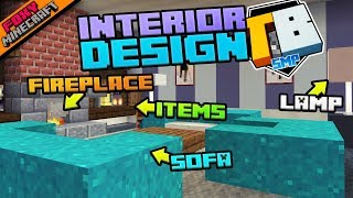 Lounge Room Interior Design | Truly Bedrock [1-47] | Minecraft Bedrock Edition SMP (MCPE / MCBE)