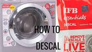How to DESCAL fully automatic washing machine || demo