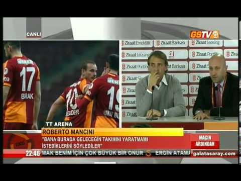Galatasaray - Bursaspor maçı sonrası Roberto Mancini'nin basın toplantısı.