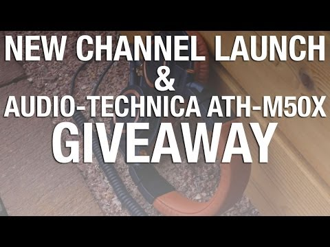 We've launched a new channel & Audio Technica ATH M50-X Headphones Giveaway!
