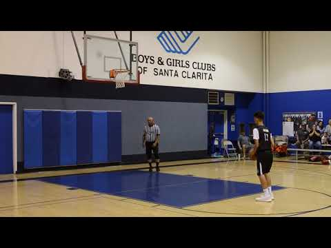 1.3 SECONDS LEFT...JACOB HITS THE FREE THROW TO WIN IT--WAY2GO! SPORTS YOUTH LEAGUE SANTA CLARITA