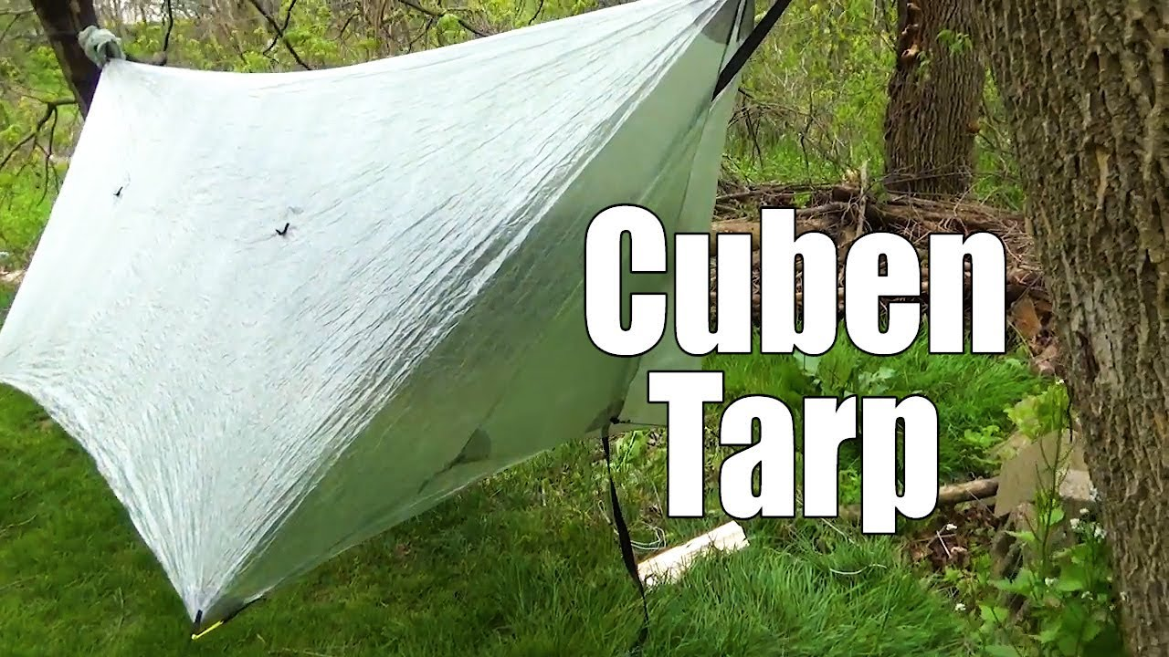 Hammock Gear cuben fiber tarp first look and door management & Hammock Gear cuben fiber tarp first look and door management - YouTube
