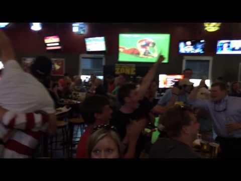 Reaction to John Brooks 86' goal USA vs Ghana 2-1 World Cup 2014 (Chattanooga, TN)