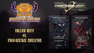 Mecha Melee: Spooktober Skirmish - VALLIER REFIT vs. FD6X-GESTAZE CRIZLEYAS  - Garrison Archangel