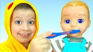 Cepillarse los dientes - Canción Infantil   Canciones Infantiles con Max