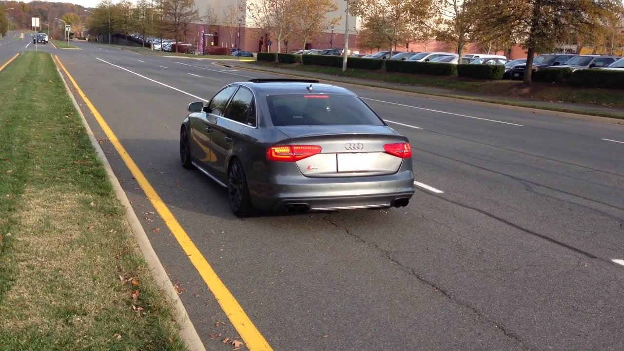 2013 b8 5 audi s4 awe catback exhaust with resonator delete youtube. Black Bedroom Furniture Sets. Home Design Ideas