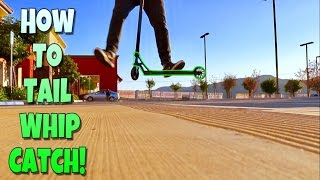 Scooter Tricks For Beginners   How To Tailwhip Catch On A Scooter ( Flat )