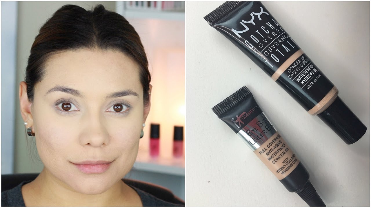 DUPE ALERT!!It Cosmetics Be Bye Undereye Concealer vs. NYX Gotcha ...