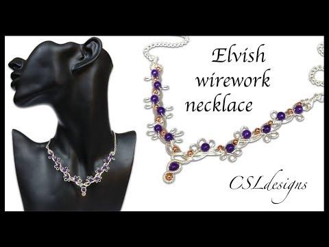 Elvish wirework necklace