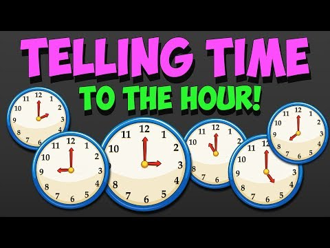 Telling Time - How to Read Clock a to the Hour