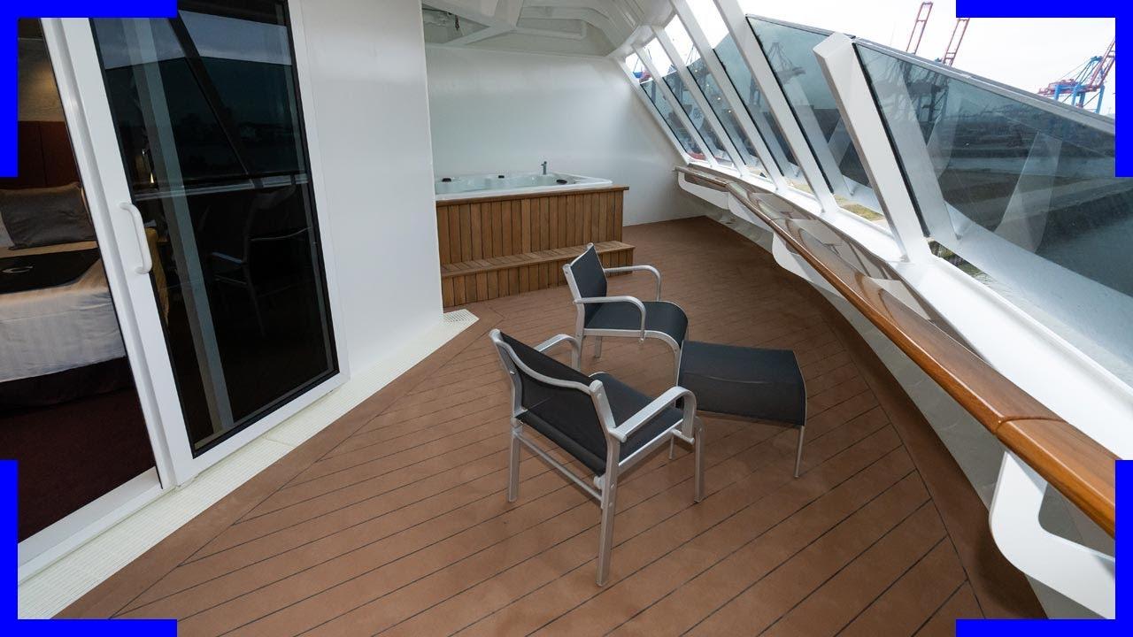 MSC Grandiosa Aurea Suite Cabin Tour in detail | 12010 ...