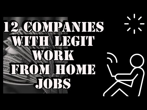 12 Companies With Legitimate Work From Home Jobs ($17/Hr)