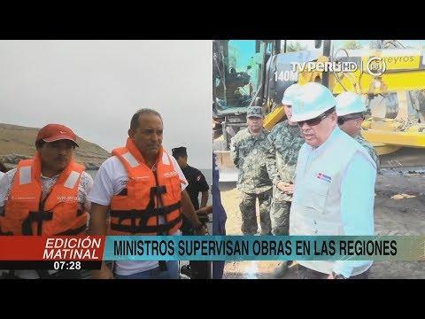 Ministros de Defensa y Transportes supervisan obras y titular de Produce dialoga con pescadores