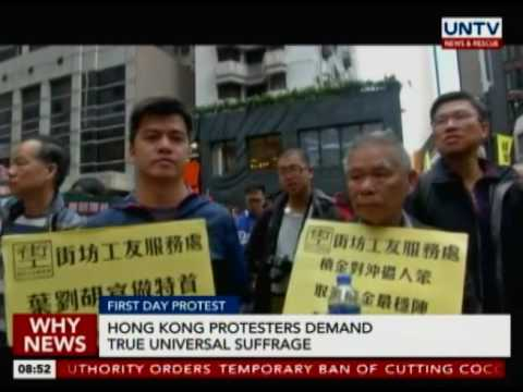 Hong Kong protesters demand true universal suffrage