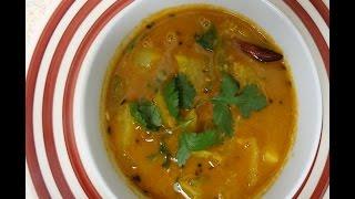 Quick  Sambar Recipe - Kohlrabi Sambar - Bachelor Sambar Recipe