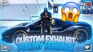 SUPER LOUD EXHAUST FERRARI 488 SPIDER!!! FT @Tall Guy Car Reviews