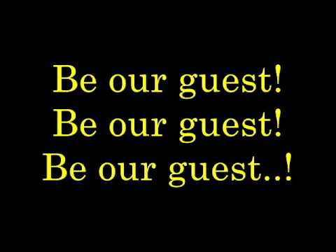 Be Our Guest  lyrics