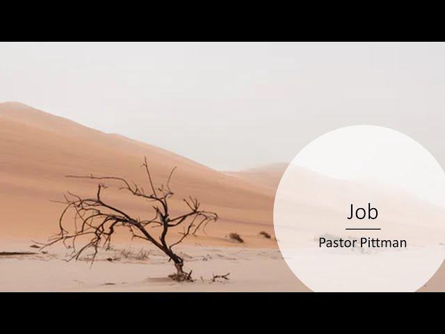 Job · 210415 Thursday Bible Study · Pastor Jerome Pittman