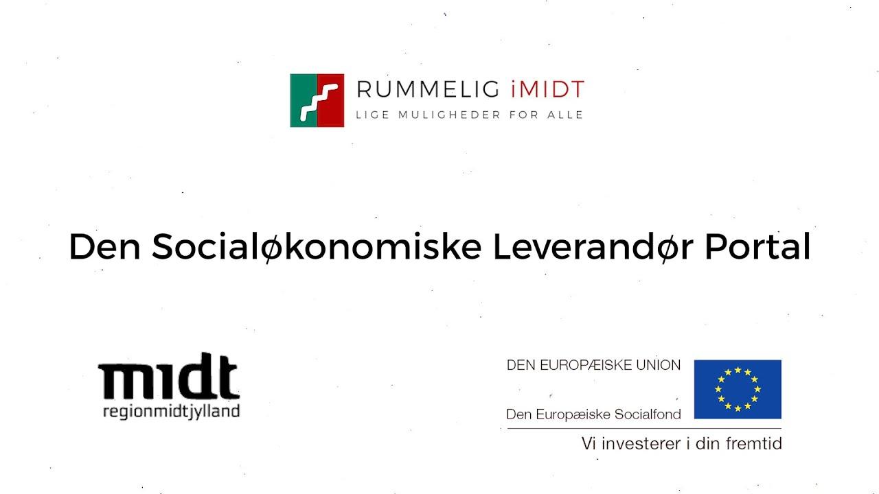 Ny video om Socialøkonomisk Leverandør Portal