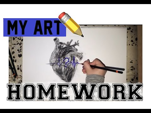 Time Lapse: Drawing Of A Heart -Art homework