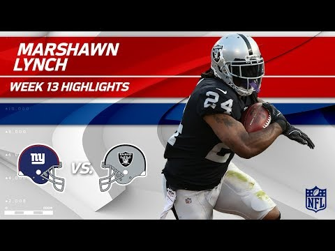 Marshawn Lynch Lights Up NY w/ 121 Total Yds & 1 TD! | Giants vs. Raiders | Wk 13 Player Highlights