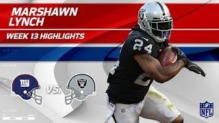 Marshawn Lynch Lights Up NY w/ 121 Total Yds & 1 TD! | Giants vs. Raiders | Wk 13 Player Highlights