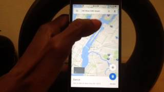 Google Maps How to use Turn By Turn Voice Navigation (IPhon Free HD Video
