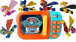 Paw Patrol Becomes Superhero Super Pups in Magical Microwave Magic Play Doh | Fizzy Fun Toys