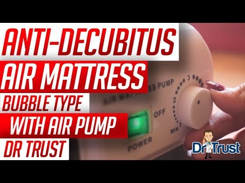 dr trust air mattress bubble type with air pump unboxing