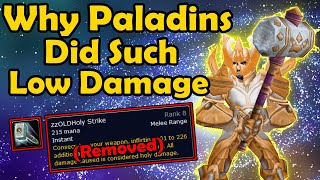 The 2 DPS Abilities Removed From Vanilla WoW Paladins (Crusader Strike/Holy Strike)