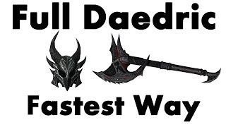 Skyrim Remastered FULL DAEDRIC Armor EASY WAY (Special Edition NO SMITHING Walkthrough Guide)
