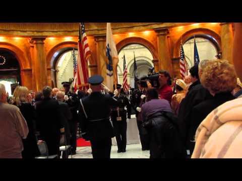Procession - Governor Baker, Lt Governor Polito, Sec Ureña, Maj Gen Rice