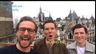 (Subtitulado) Tom Hidldeston, Benedict Cumberbatch y Tom Holland mandan saludos