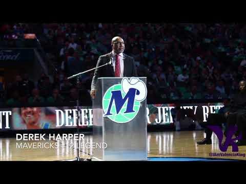 Former Dallas Maverick Derek Harper   Jersey Retirement