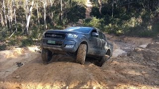 Ford Ranger Wildtrak first time off-road   4x4 @ Lithgow NSW