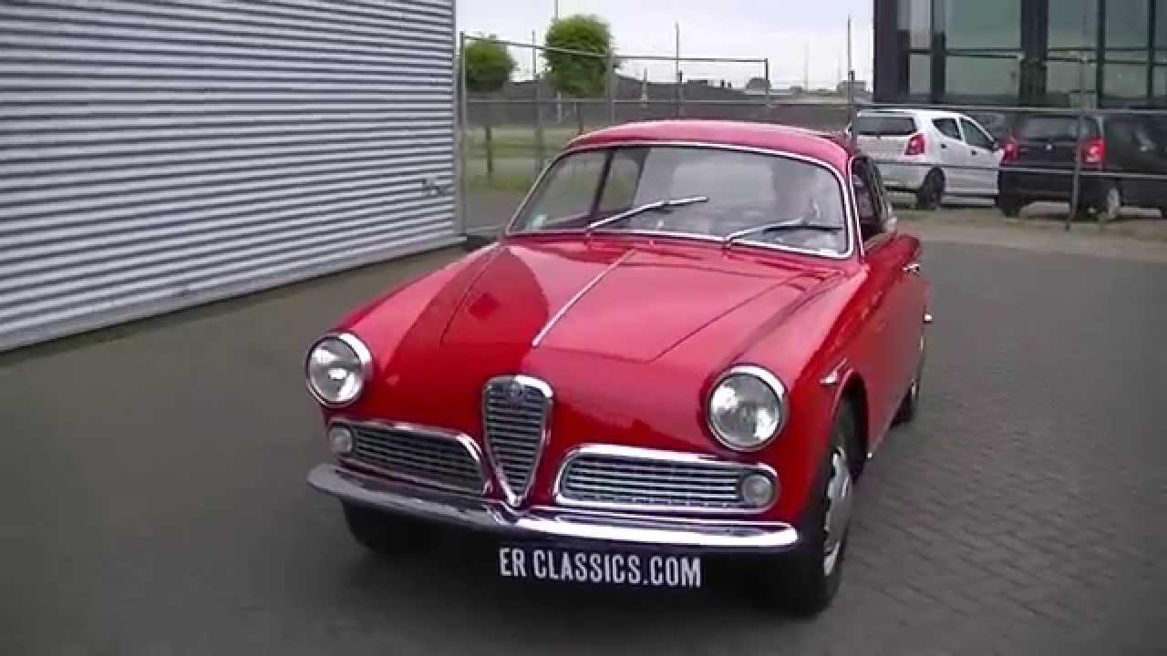 alfa romeo giulietta sprint 1600 1961 restored -video- www