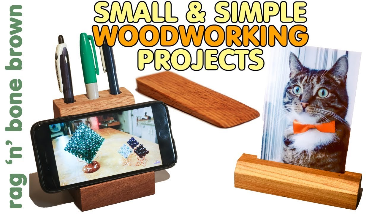 3 Simple Woodworking Projects Gift Ideas Including A Desk Tidy Smart Phone Stand Photo Display