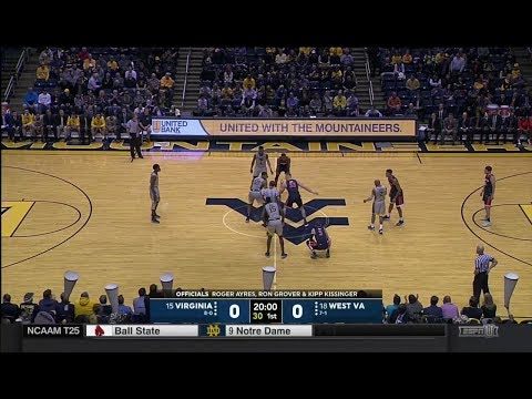 NCAAB 12 5 2017 Virginia at West Virginia 720p60