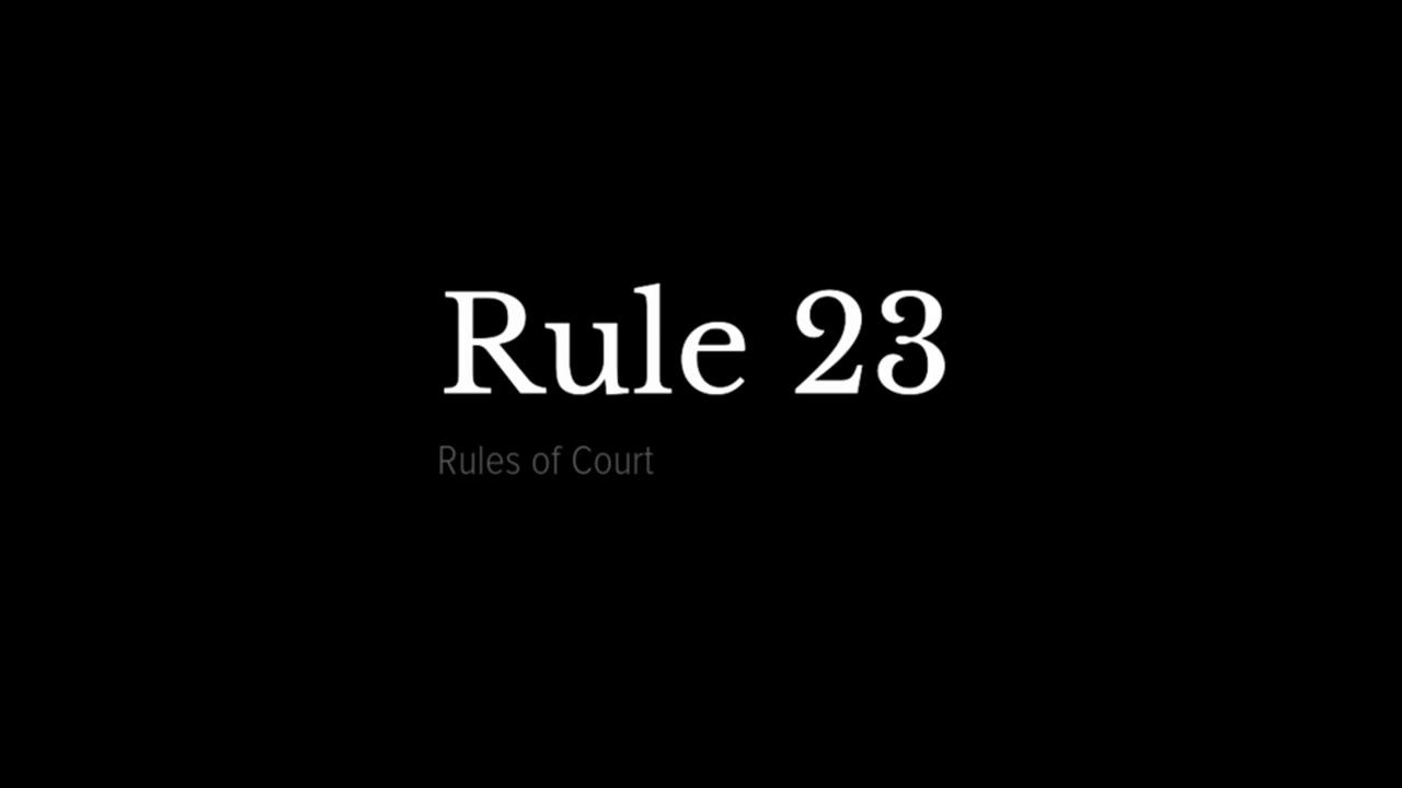 Image result for rule 23 logo